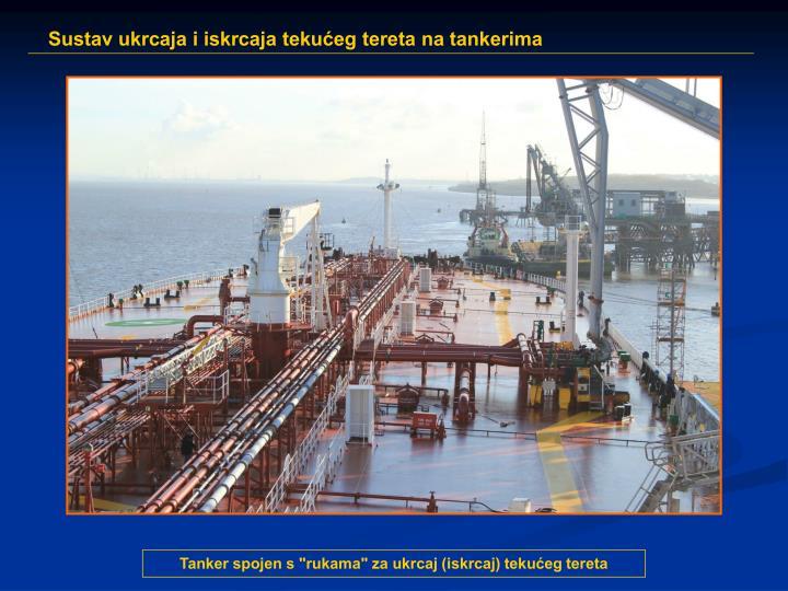 """Tanker spojen s """"rukama"""" za ukrcaj (iskrcaj) tekućeg tereta"""