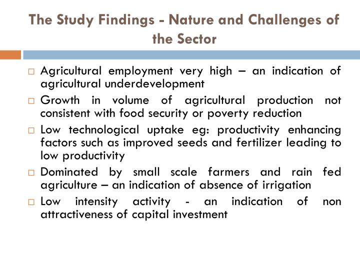 The Study Findings - Nature and Challenges of the Sector