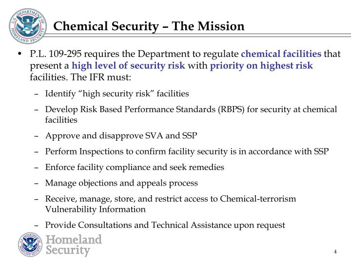 Chemical Security – The