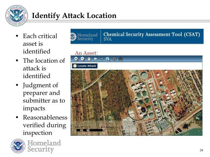 Identify Attack Location