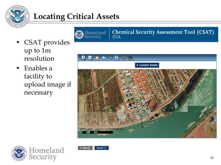 Locating Critical Assets