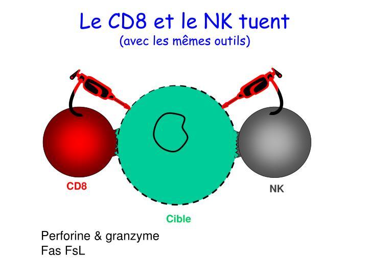 Le CD8 et le NK tuent