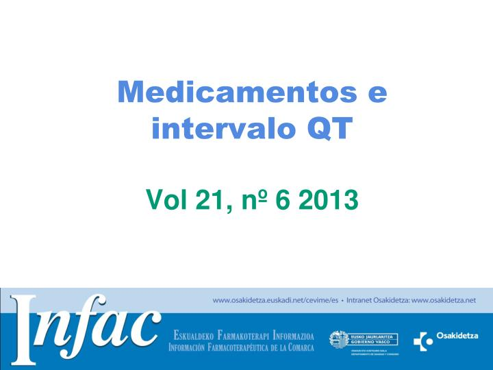 Medicamentos e intervalo QT