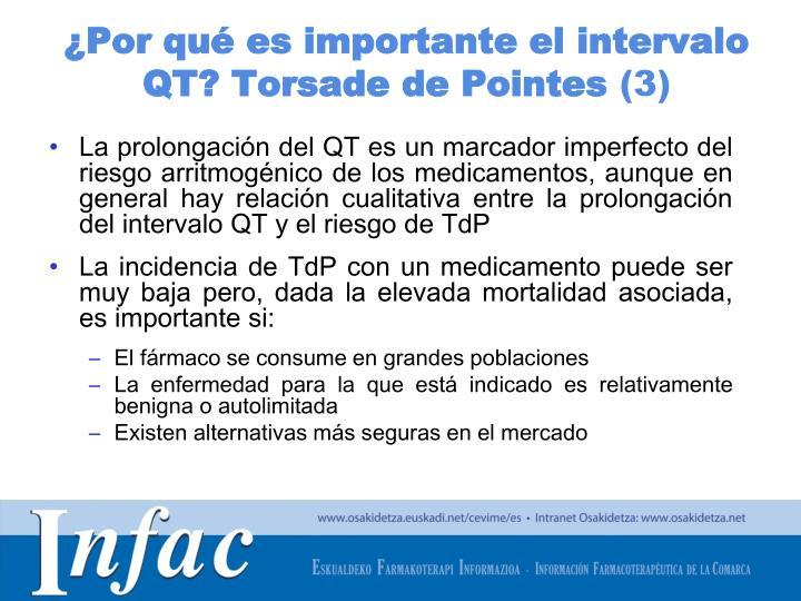 ¿Por qué es importante el intervalo QT? Torsade de Pointes
