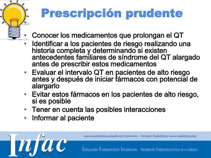 Prescripción prudente