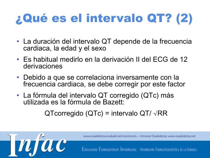 ¿Qué es el intervalo QT? (2)