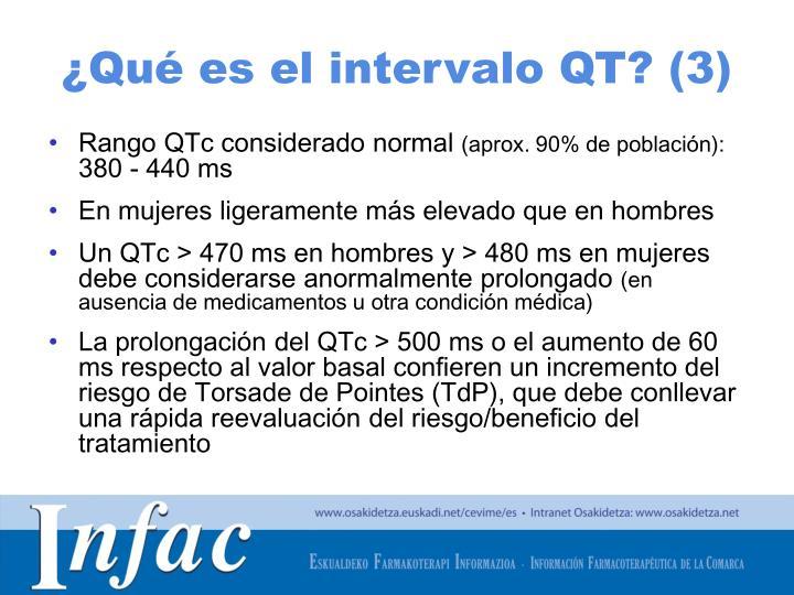 ¿Qué es el intervalo QT? (3)