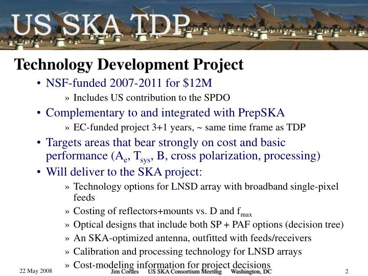 Technology Development Project