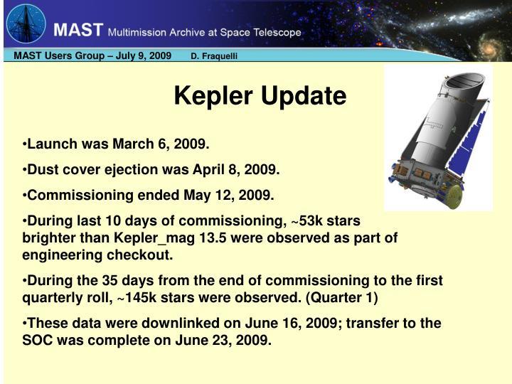 Kepler Update
