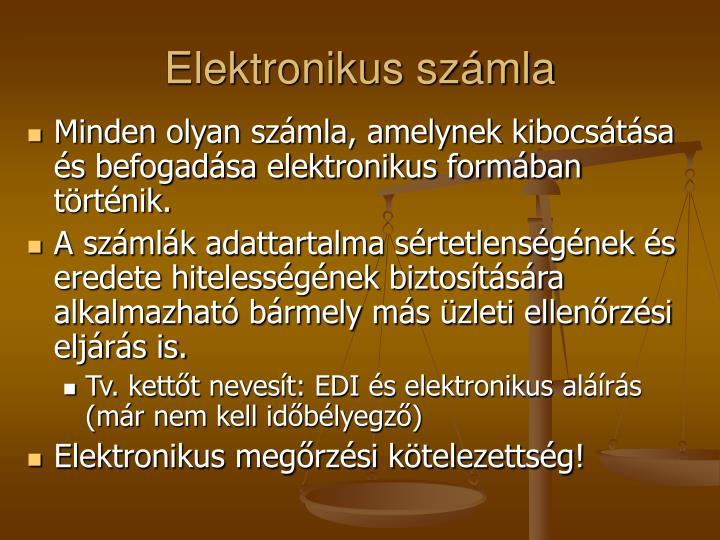 Elektronikus számla