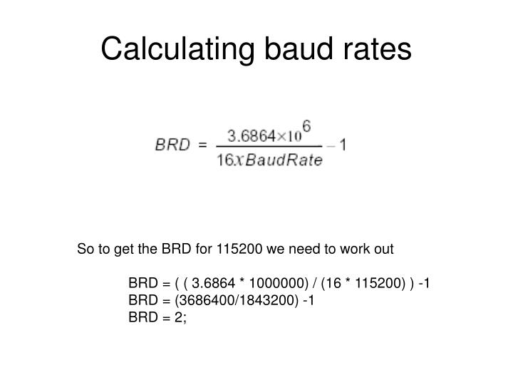 Calculating baud rates