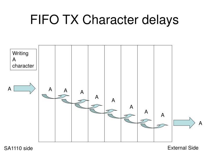 FIFO TX Character delays