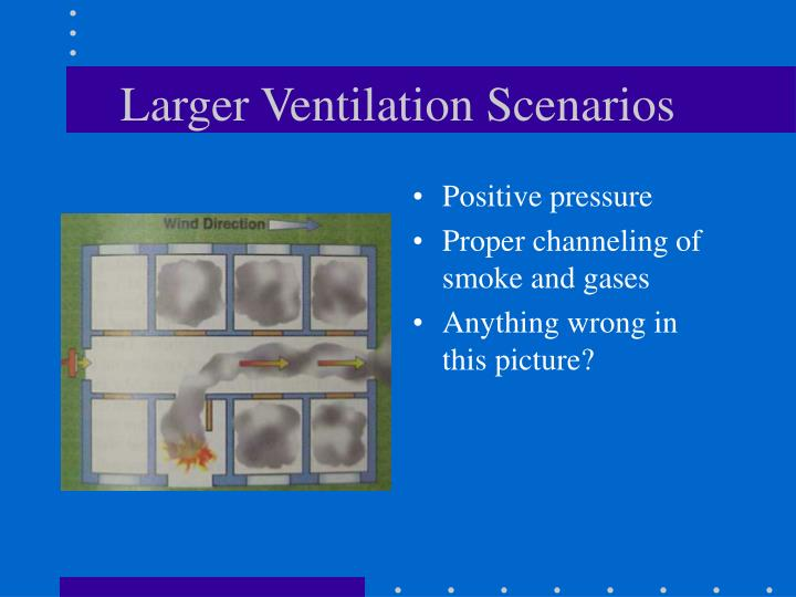 Larger Ventilation Scenarios