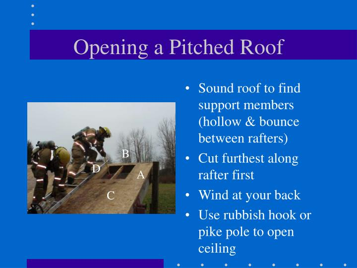 Opening a Pitched Roof