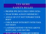 yes more safety rules