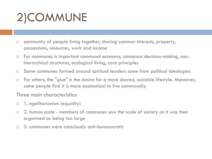 2)COMMUNE