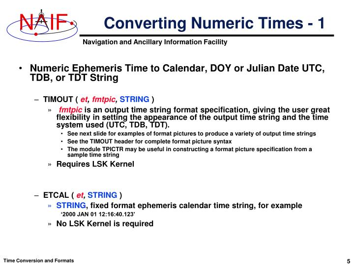 Converting Numeric Times - 1