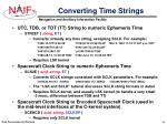 converting time strings