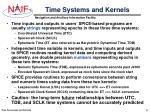 time systems and kernels