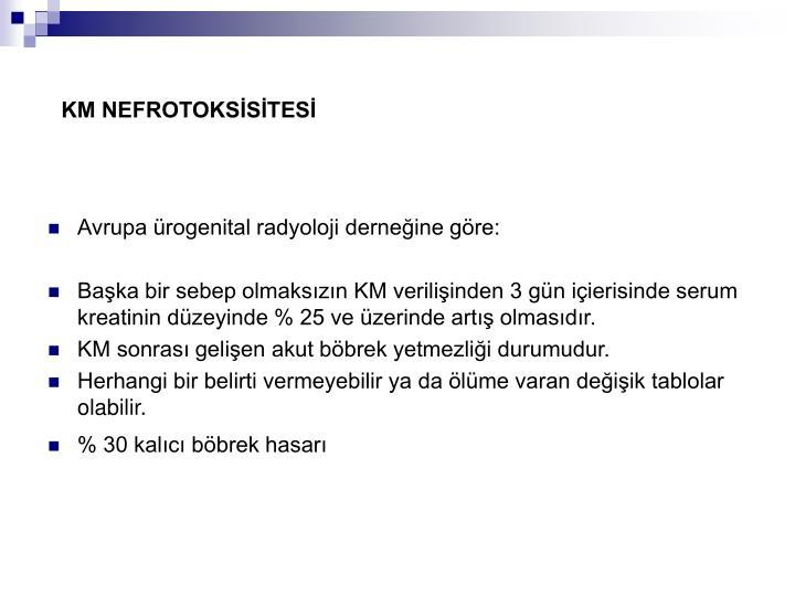 KM NEFROTOKSİSİTESİ