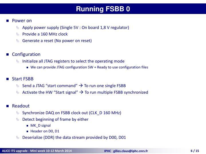 Running FSBB 0