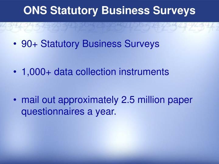 ONS Statutory Business Surveys
