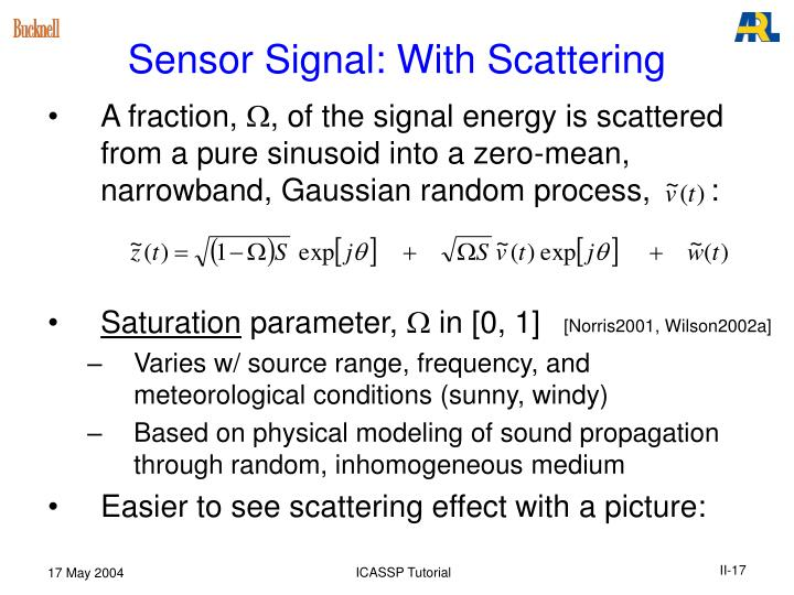 Sensor Signal: With Scattering