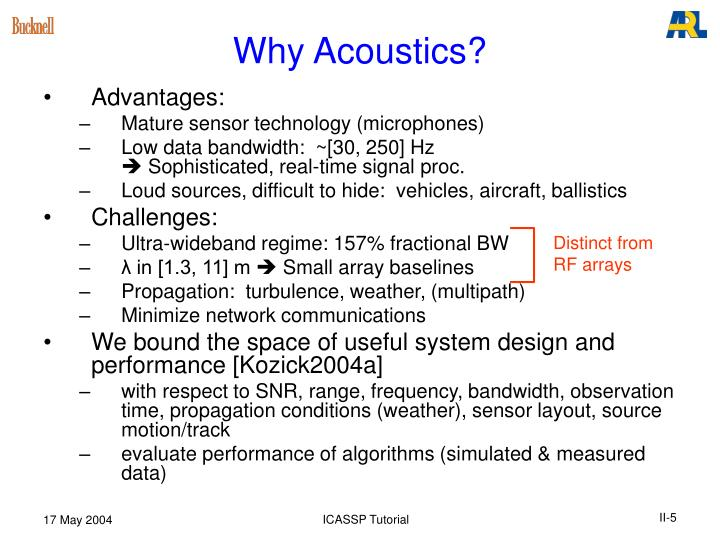 Why Acoustics?