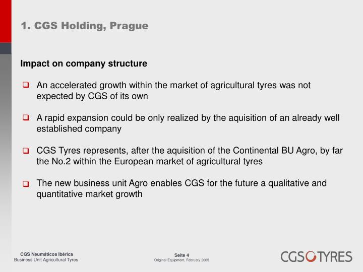 1. CGS Holding, Prague