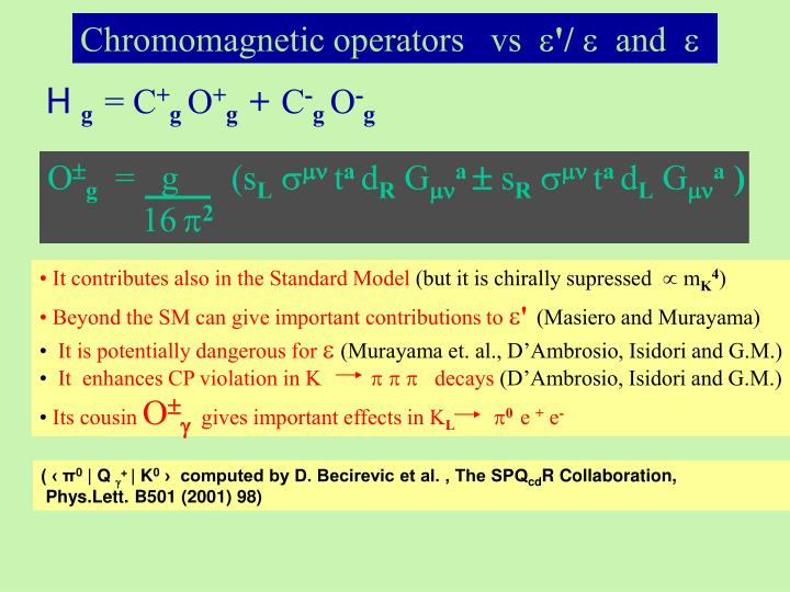 Chromomagnetic operators   vs