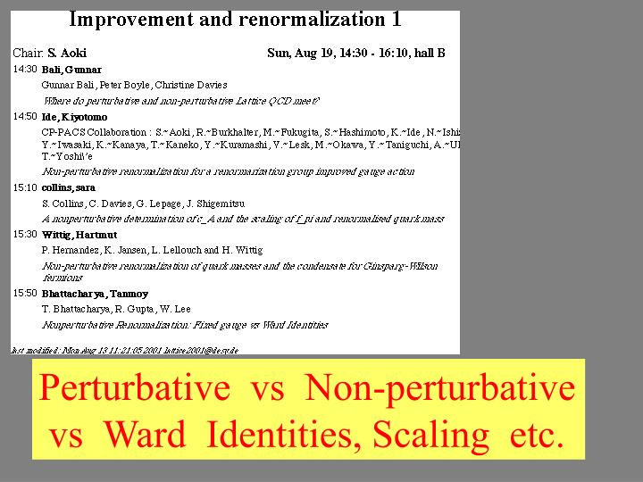 Perturbative  vs  Non-perturbative