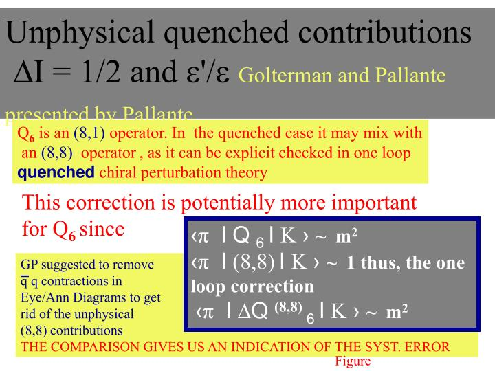 Unphysical quenched contributions