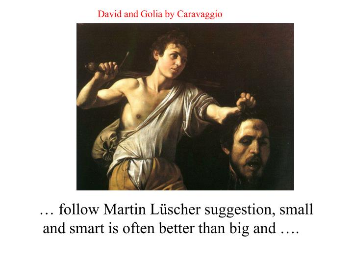 David and Golia by Caravaggio