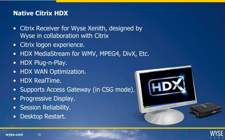 Native Citrix HDX