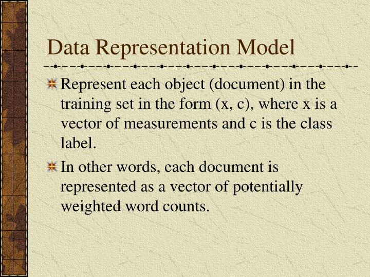 Data Representation Model