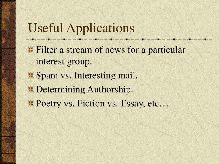 Useful Applications