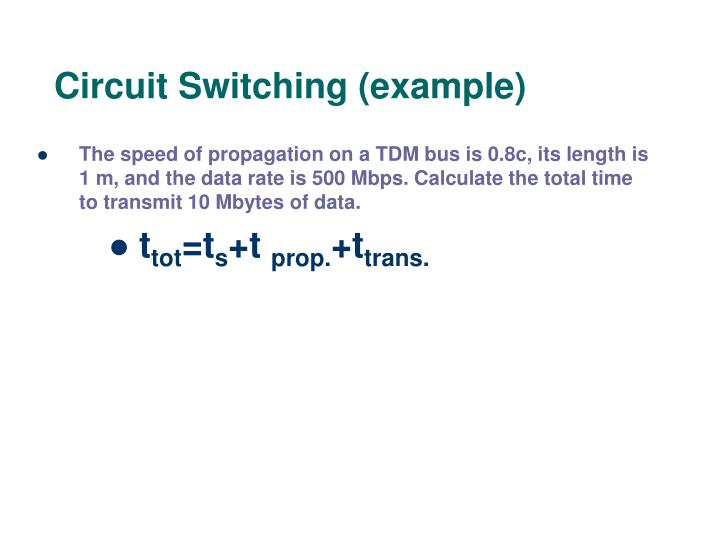 Circuit Switching (example)