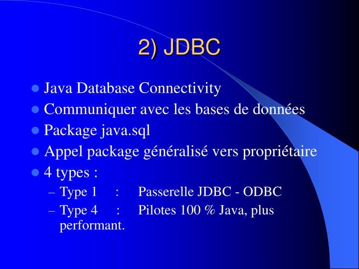 2) JDBC