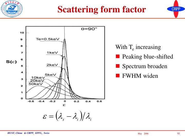 Scattering form factor
