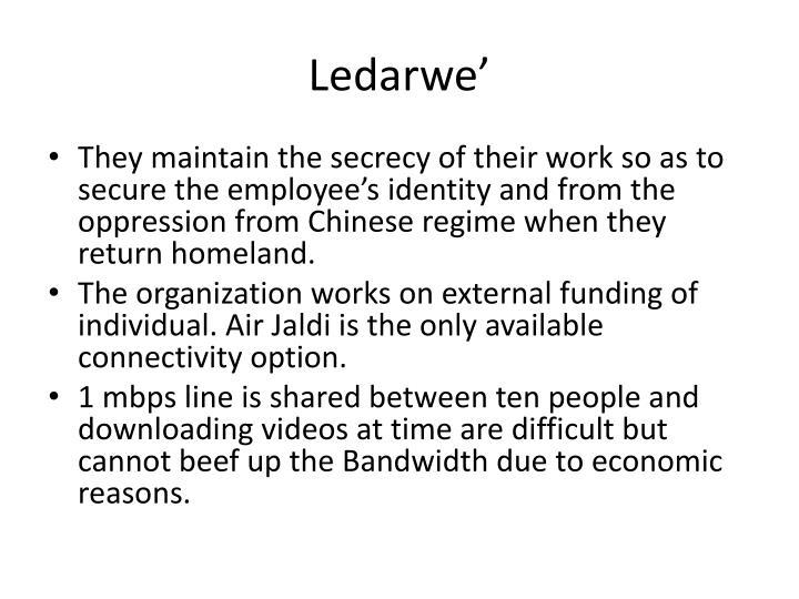Ledarwe'