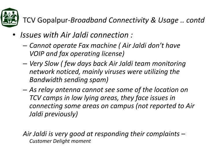 TCV Gopalpur-
