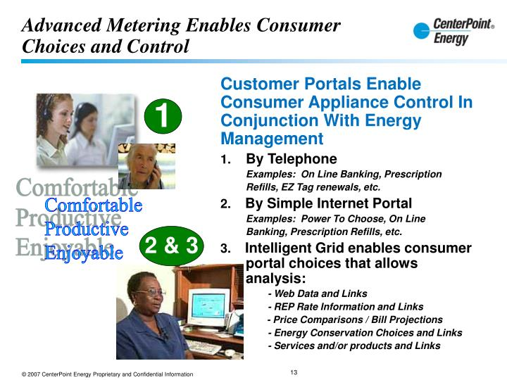 Advanced Metering Enables Consumer Choices and Control