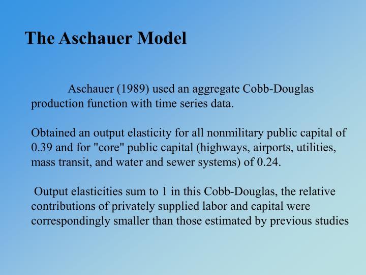 The Aschauer Model