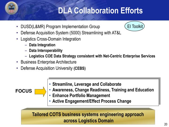 DLA Collaboration Efforts