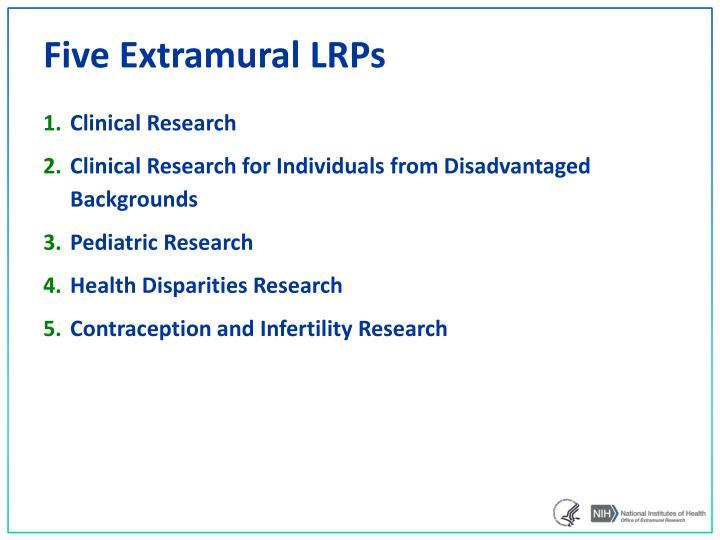 Five Extramural LRPs
