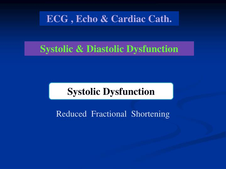 ECG , Echo & Cardiac Cath.