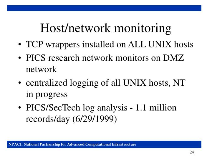 Host/network monitoring