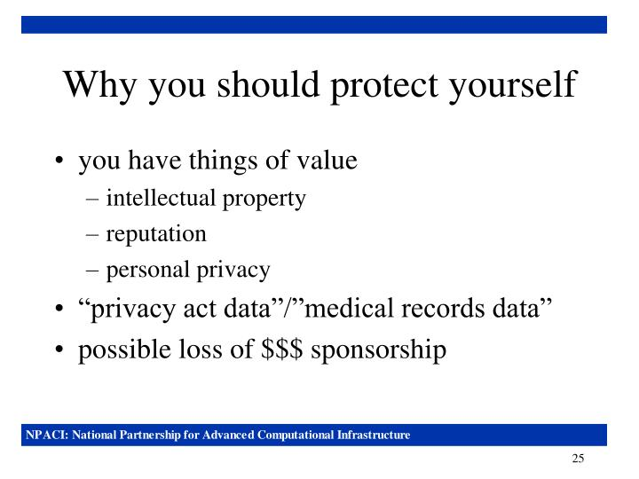Why you should protect yourself