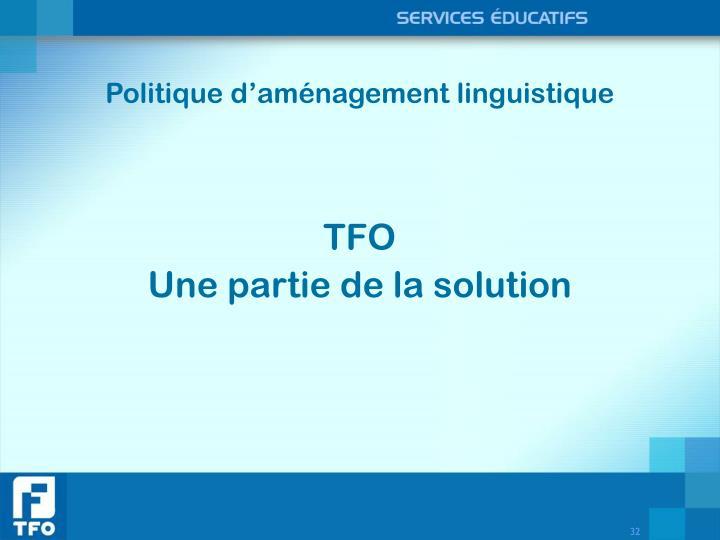 Politique d'aménagement linguistique