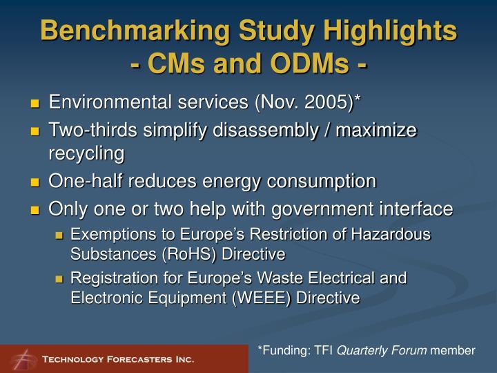 Benchmarking Study Highlights